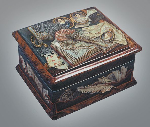 """Casket """"Three, seven, ace"""", side view"""